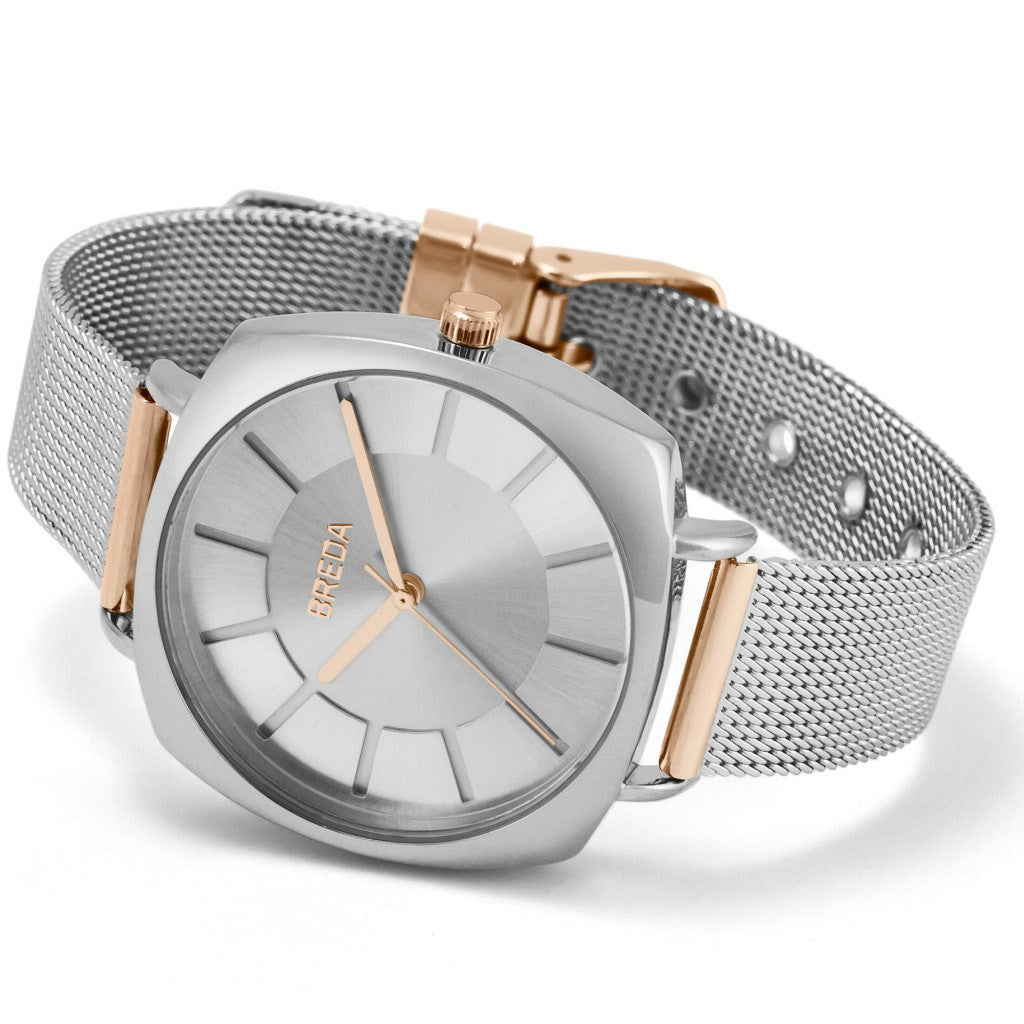 Breda Watches Vix Watch | Silver/Rose Gold 7018c