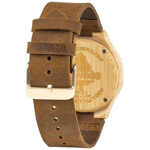 WeWood Dellia Bamboo Wood Watch | Bamboo/Leather-WDELBB