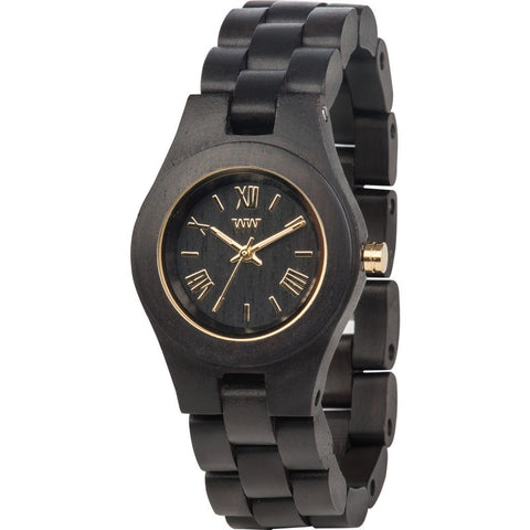 WeWood Criss African Blackwood Wood Watch | Black/Gold WCRBG