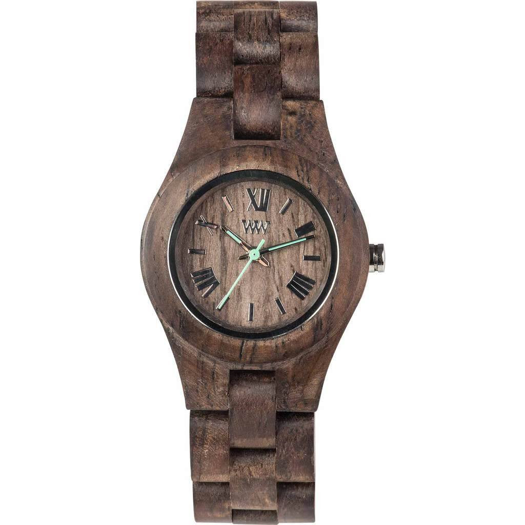 WeWood Criss Rough Indian Rosewood Wood Watch | Chocolate Wcrcho