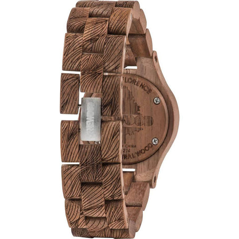 WeWood Criss Waves Rough Nut Wood Watch | Walnut