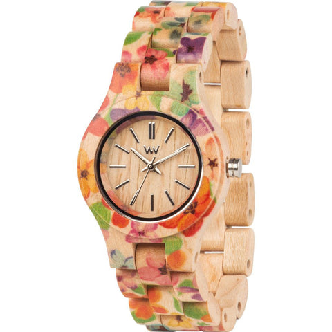 WeWood Criss Flower Maple Wood Watch | Beige WCFLBE