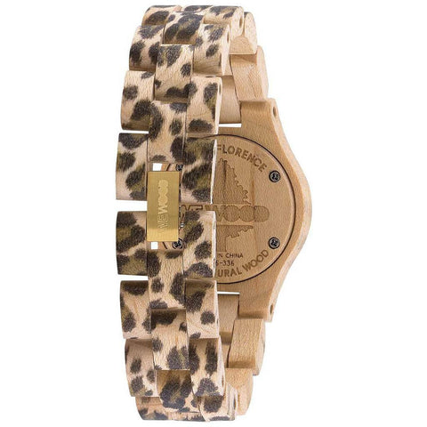 WeWood Criss Metal/Leo Maple Wood Watch | Beige/Gold-WCMBLEO