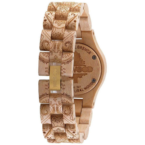 WeWood Criss Metal/Henne Maple Wood Watch | Beige/Gold - WCMBHEN