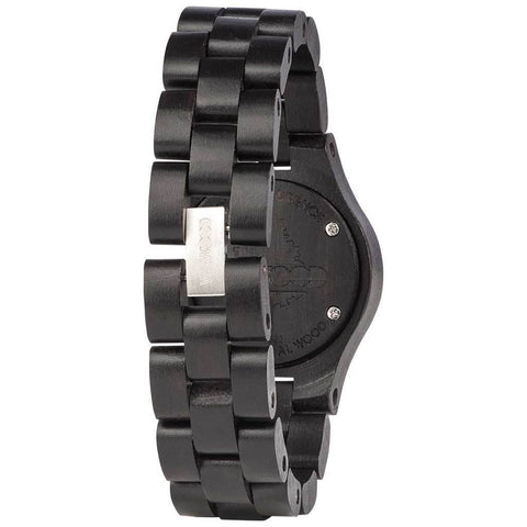 WeWood Criss Metal/African Blackwood Watch | Black/Rose-WCMBCGO