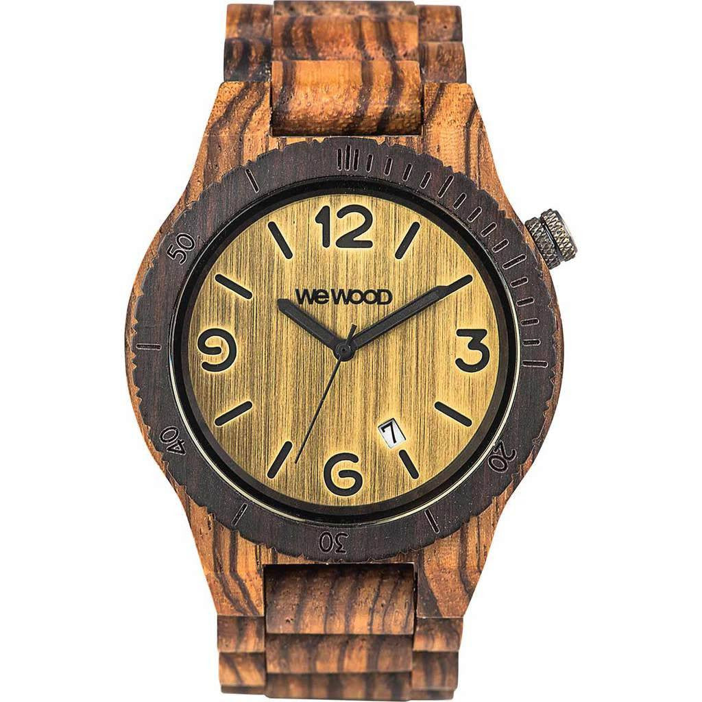 WeWood Alpha Zebrano Wood Watch | Zebra Wood