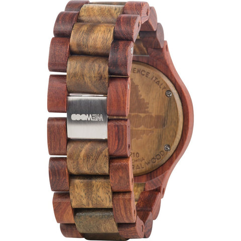 WeWood Date Cherry/Verawood Watch | Cherry/Army Wdchay