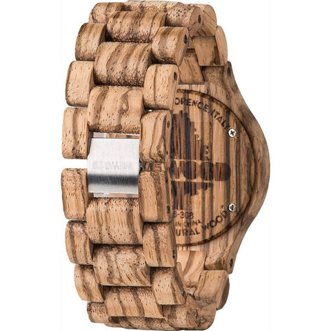 WeWood Date Rough African Beli Wood Wood Watch | Zebrano WDRZB