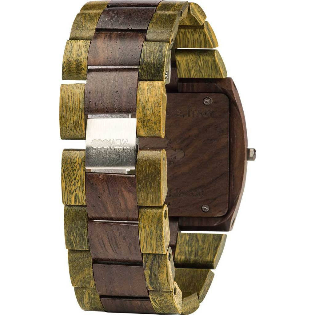 WeWood Jupiter Rosewood/Guaiaco Wood Watch | Chocolate/Army