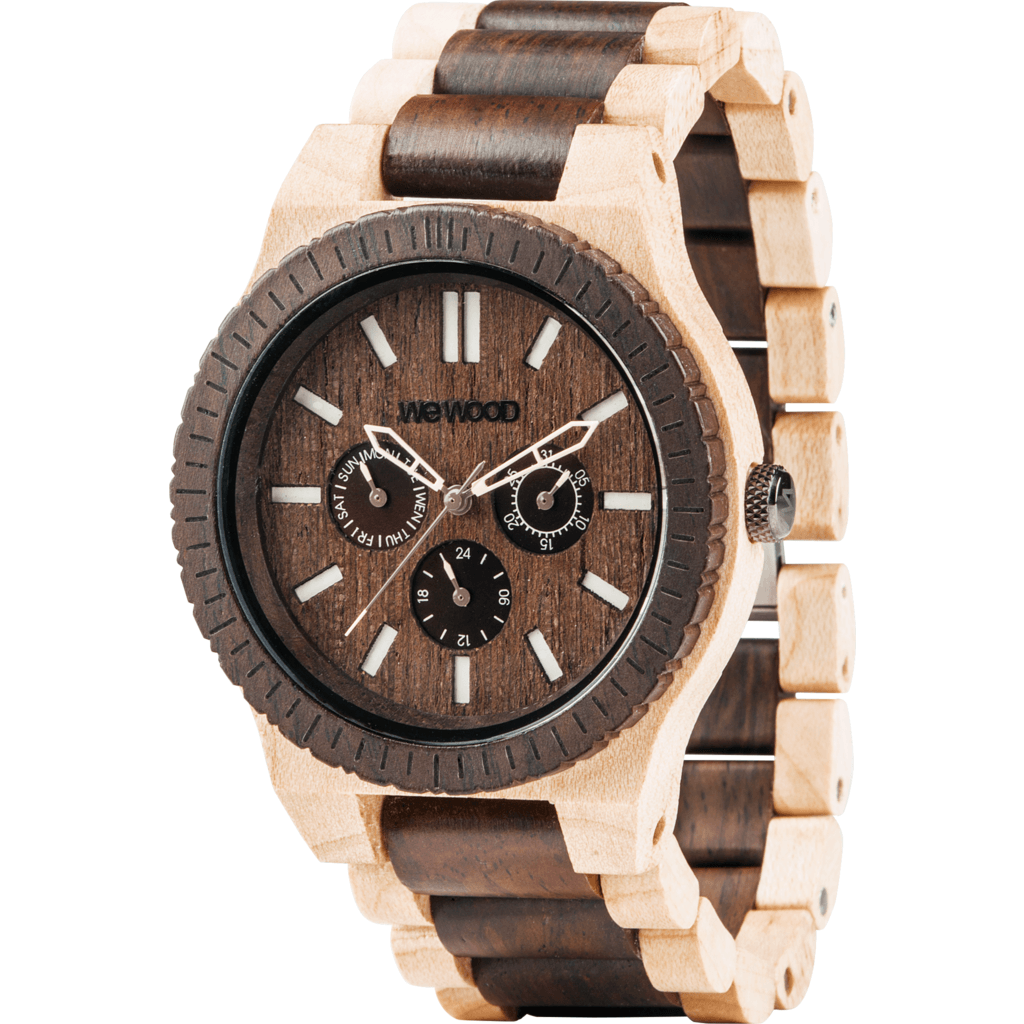 WeWood Kappa Bicolor Indian Rosewood/Maple Wood Watch | Choco Crema WKCHCR