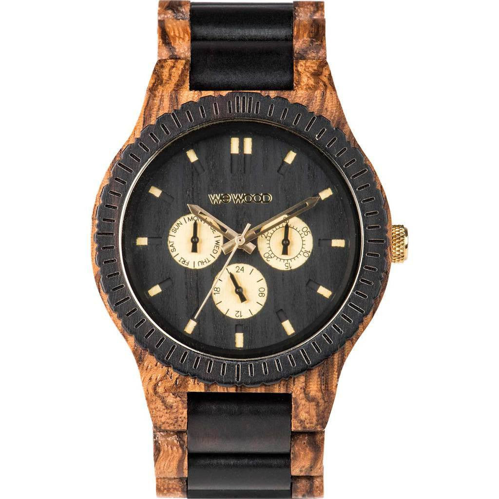 WeWood Kappa African Beli/BlackwoodWood Watch | Zebrano WKAPZE