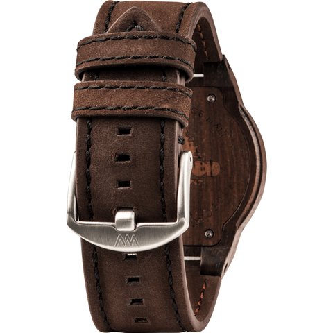 WeWood Leo Indian Rosewood Watch | Chocolate/Leather