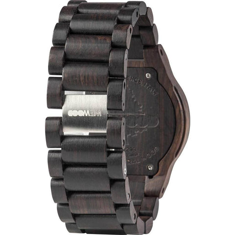WeWood Oblivio African Blackwood Wood Watch | Black WhiteWOBBWH