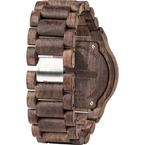 WeWood Allium Mica Rosewood Rough Wood Watch | Chocolate