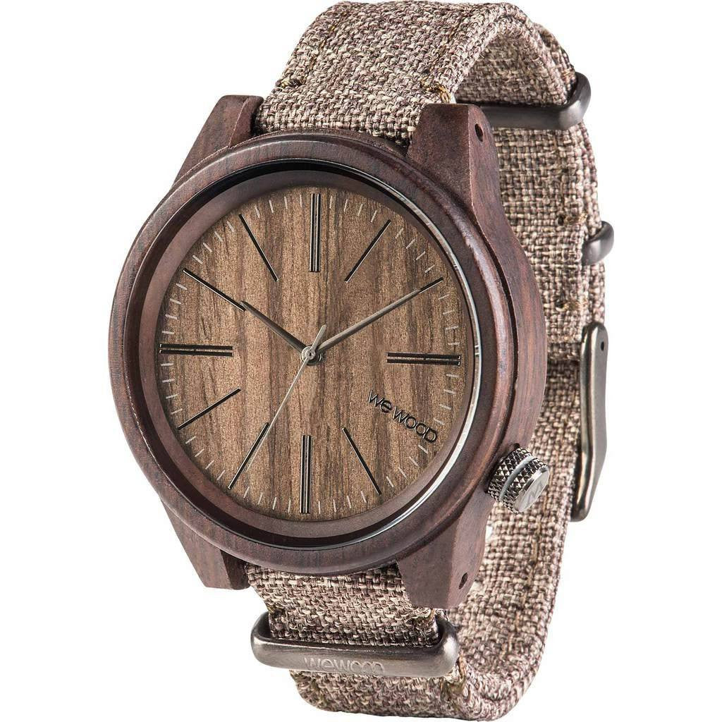 WeWood Torpedo Indian Rosewood Watch | Chocolate/Linen Wtchln