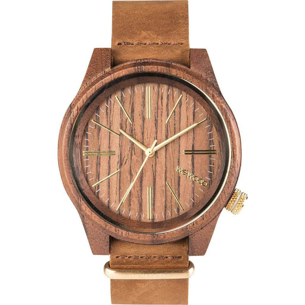 WeWood Torpedo Nut Wood Watch | Walnut/Leather Wtlhnt
