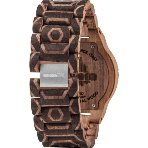 WeWood Alpha Nature Beehive Nut Wood Watch | Walnut Print