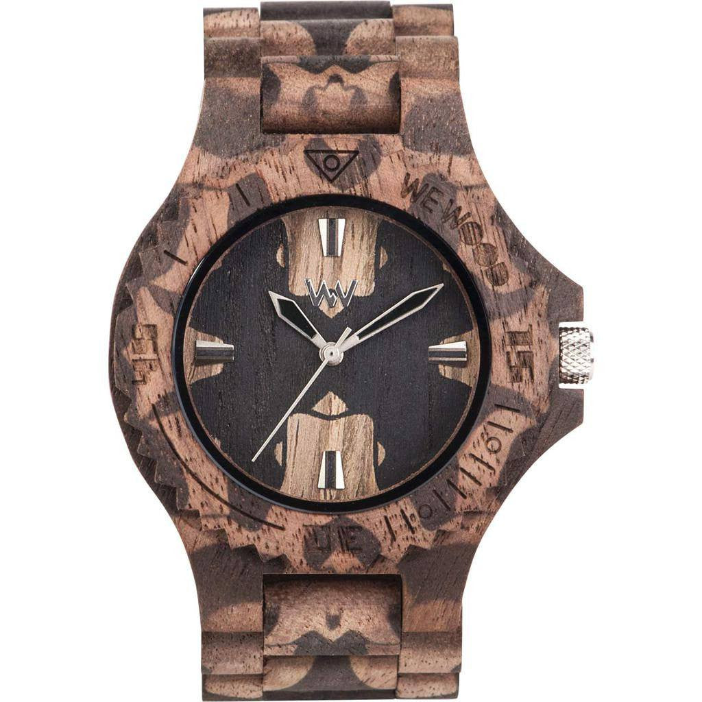 WeWood Date Nature Mirror Nut Wood Watch | Walnut Wdnmnu