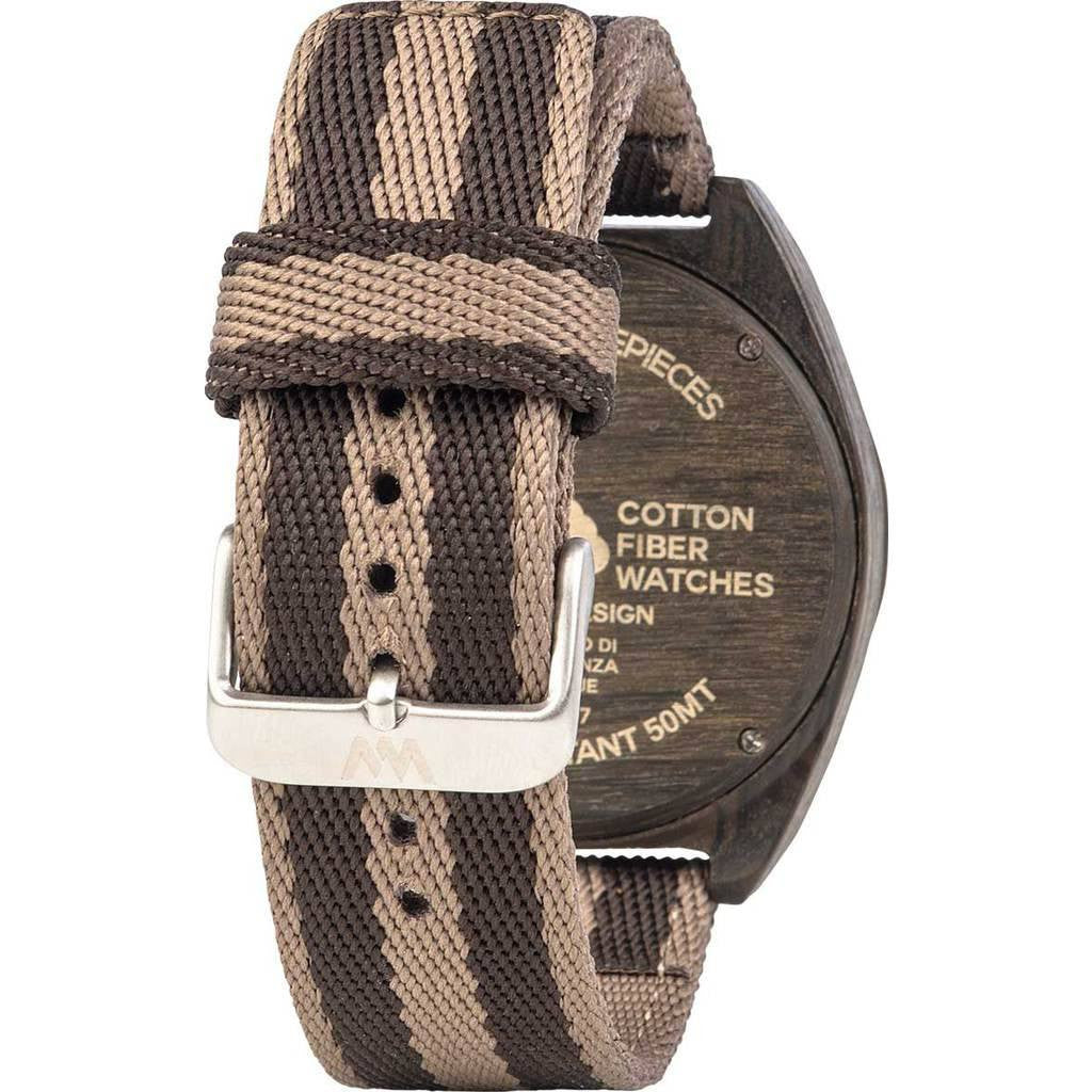 WeWood Phoenix Cotton Fiber Wood Watch | Wenge Earth WPH46WE