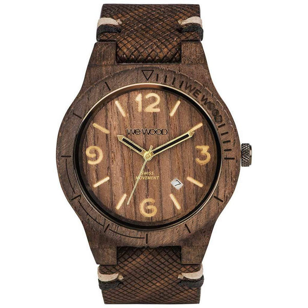 Wewood Alpha Swiss Rough Indian Rosewood Watch Chocolate