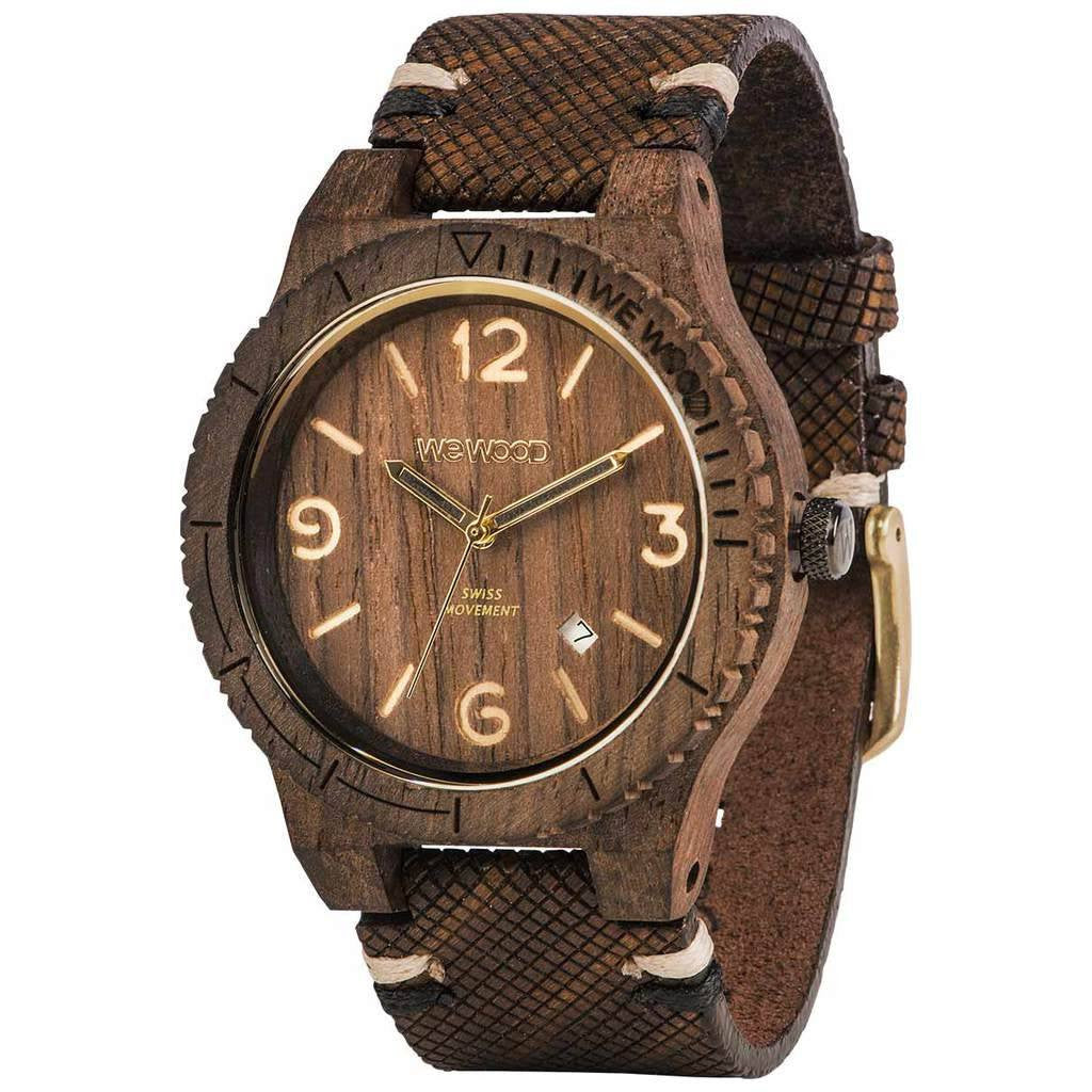 WeWood Alpha Swiss Rough Indian Rosewood Watch | Chocolate-WASWCR