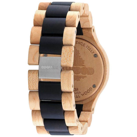 WeWood Date Metal/Maple Wood Watch | Beige/Black -  WDMBBL