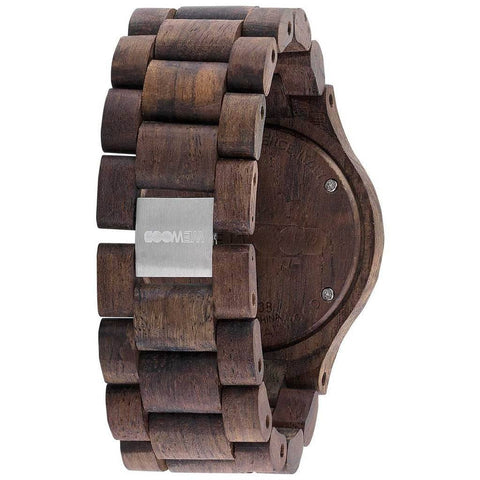 WeWood Date Rough Metal/Indian Rosewood | Chocolate/Brown - WDMBCHR