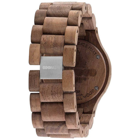 WeWood Date Rough Metal/Walnut Wood Watch | Nut/Gun -WDMBGUN
