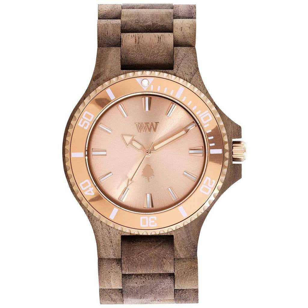 WeWood Date Rough Metal/Walnut | Nut/Rose Gold- WDMBRO
