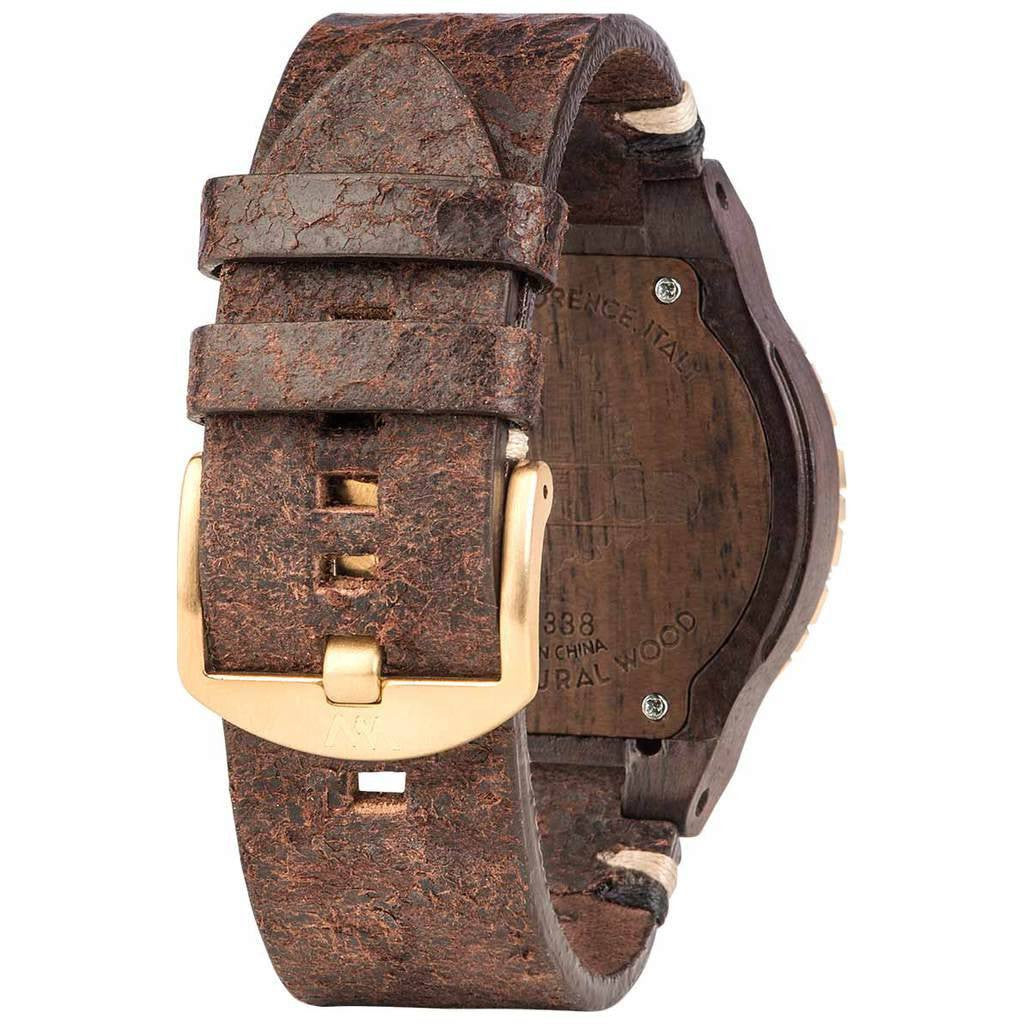WeWood Kardo Metal/Indian Rosewood Watch | Chocolate/Gold- WKMBCHG