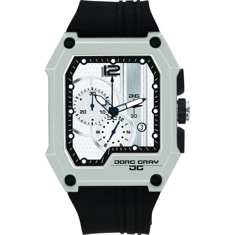 Jorg Gray JG7100-22 White Men's Chronograph Watch | Silicone