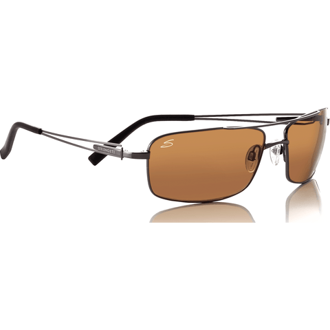 Serengeti Dante Shiny Gunmetal Photochromic Sunglasses | Polarized Drivers 7113