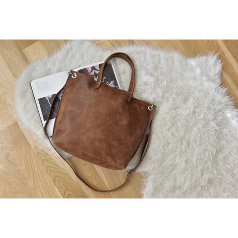 Kiko Leather Paseo Leather Tote | Brown-716-2