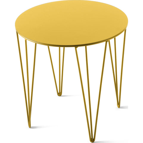 Atipico Chele 35 Rounded Coffee Table | Traffic Yellow 7211