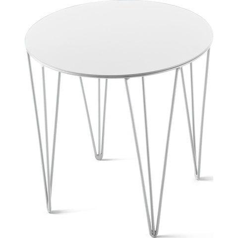 Atipico Chele 35 Rounded Coffee Table | Signal White 7219