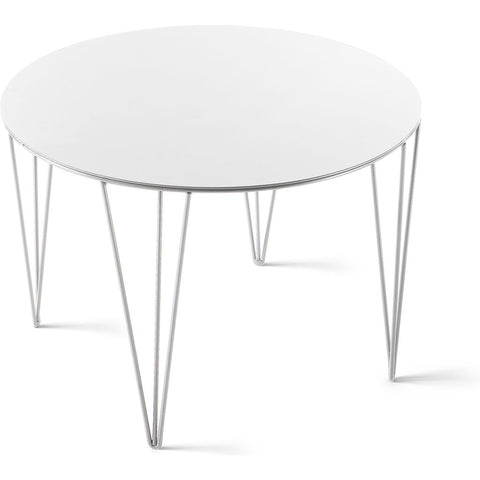 Atipico Chele 50 Rounded Coffee Table | Signal White 7229