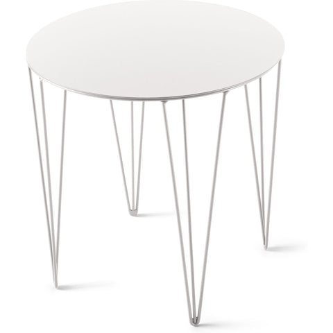 Atipico Chele 40 Rounded Coffee Table | Signal White 7239