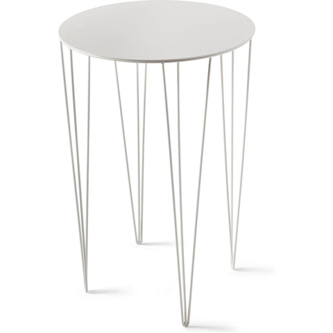 Atipico Chele 40 Tall Rounded Coffee Table | Signal White 7250