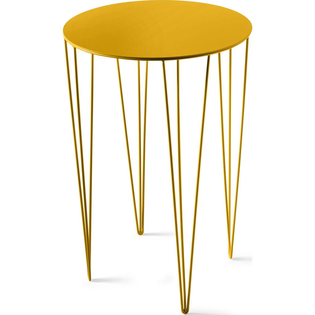 Atipico Chele 40 Tall Rounded Coffee Table | Traffic Yellow 7251