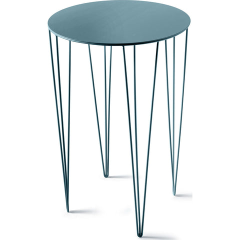 Atipico Chele 40 Tall Rounded Coffee Table | Turquoise Blue 7252