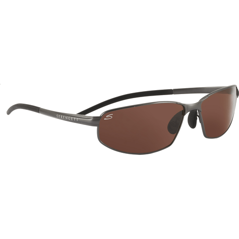 Serengeti Granada Metallic Gunmetal Photochromic Sunglasses | Polarized Drivers 7303