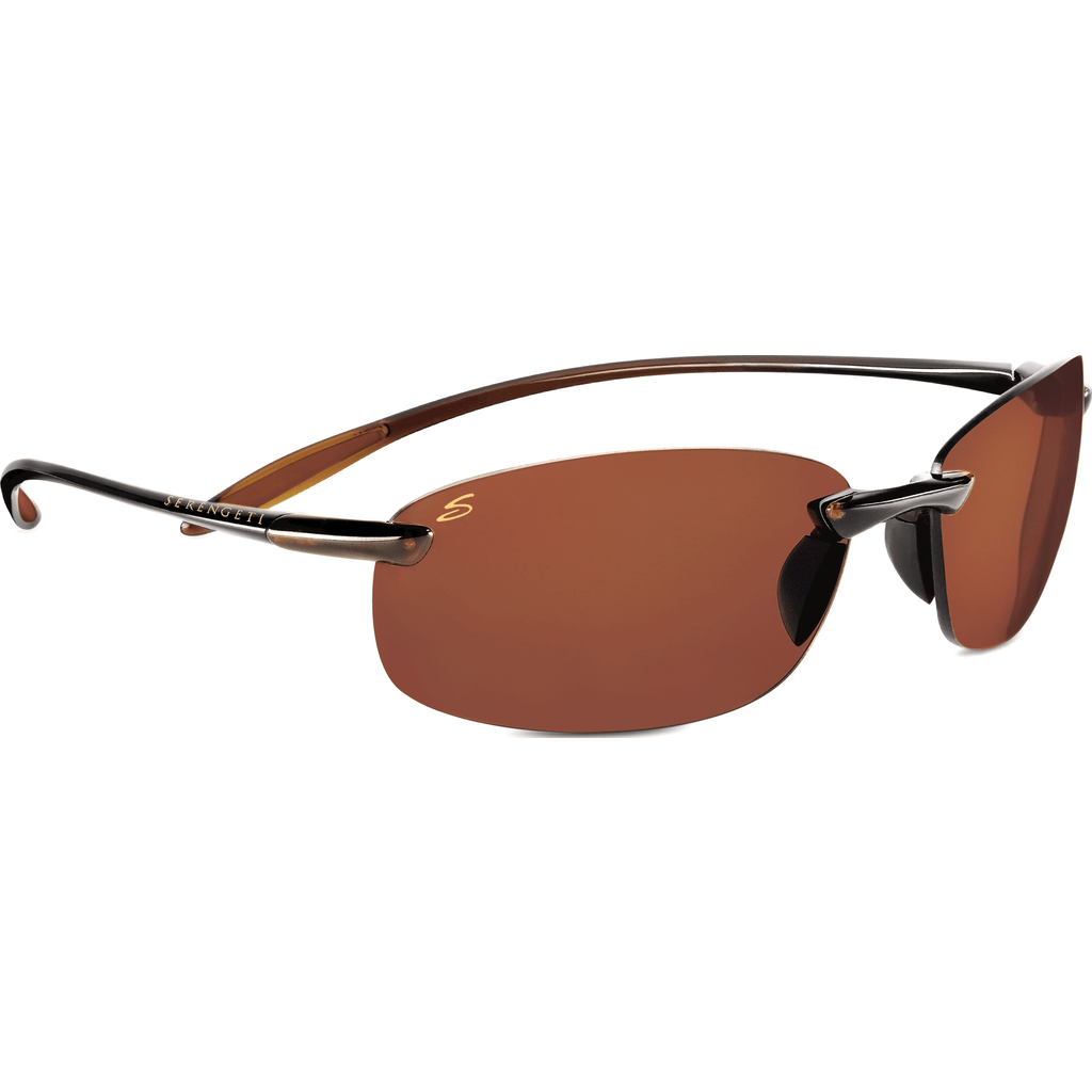 Serengeti Nuvino Shiny Brown Photochromic Sunglasses | Polar PhD Drivers 7316
