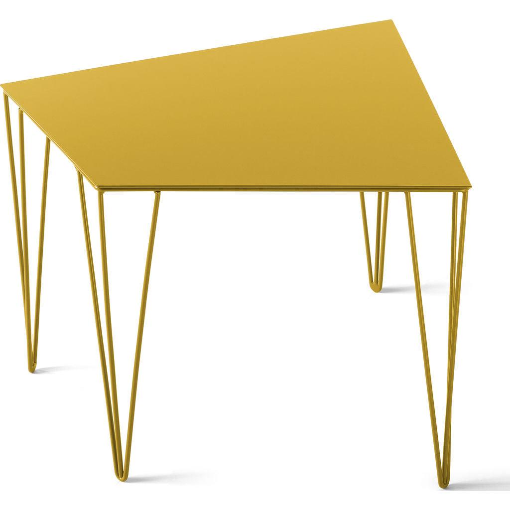 Atipico Chele 48 Trapezoidal Coffee Table | Traffic Yellow 7321
