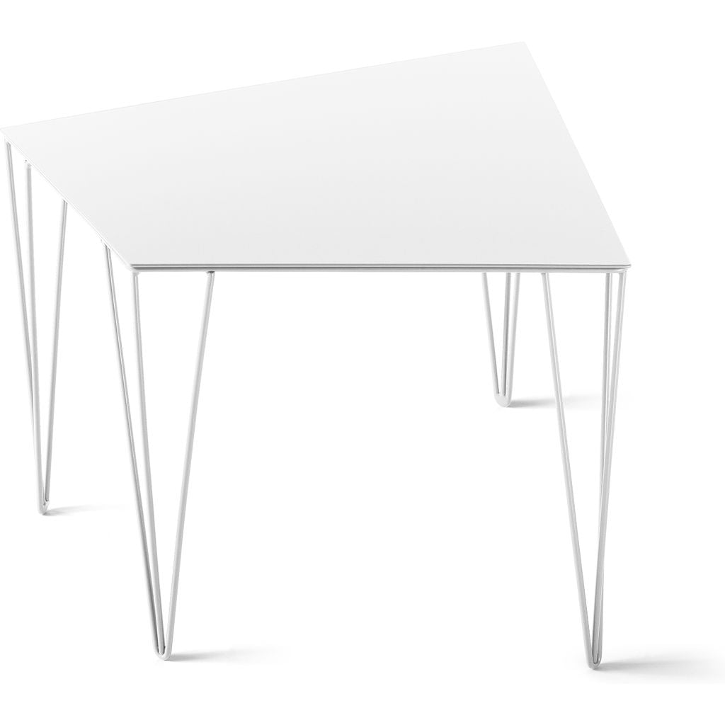 Atipico Chele 48 Trapezoidal Coffee Table | Signal White 7329