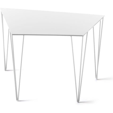 Atipico Chele 59 Trapezoidal Coffee Table | Signal White 7339