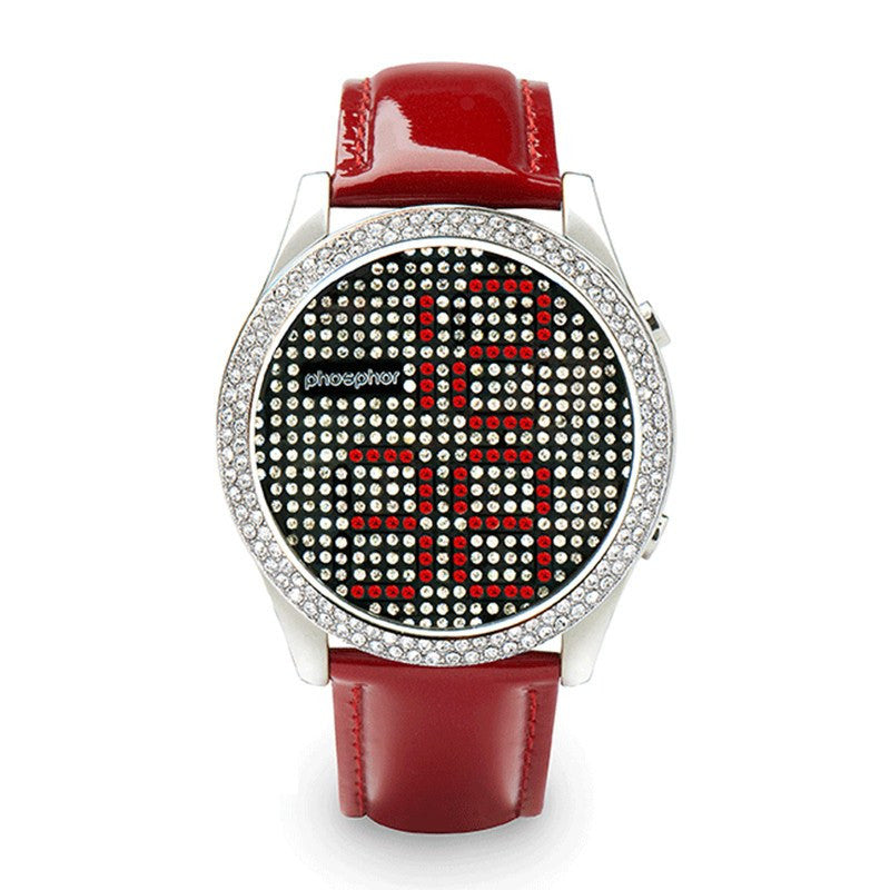 Phosphor Appear Red Crystal Watch | MD002L