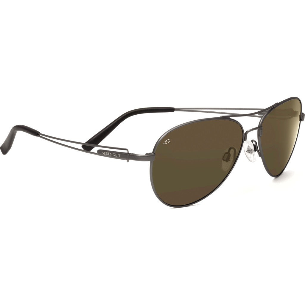 Serengeti Brando Velvet Gunmetal Photochromic Sunglasses | Polarized 555nm 7541
