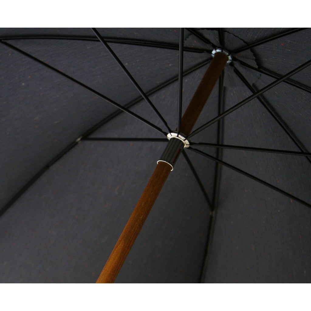 London Undercover Grey City Fleck Umbrella | Malacca Wood Handle & Beech Wood Shaft LU FLK-002