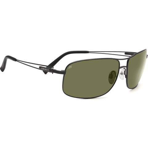 Serengeti Sassari Satin Black Photochromic Sunglasses | Polarized 555nm 7664