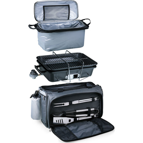 Picnic Time Oniva Vulcan Portable Propane Grill & Cooler Tote w/ Trolley